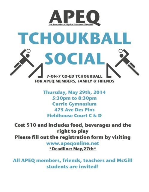 APEQ 2014 Tchoukball Social